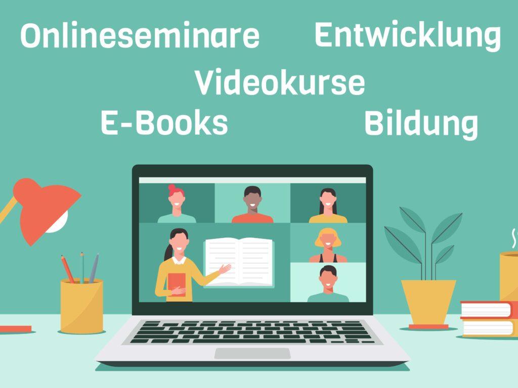 Plattform für Onlinekurse, Videokurse & Gratisbücher