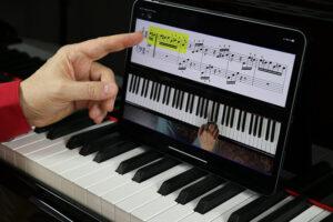 Klavier lernen online Tablet